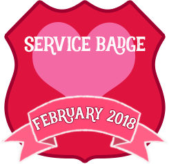 Service Badge: February 2018