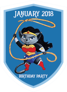Party Badge: Jan 2018 Birthday Party