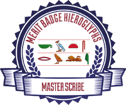 Merit Badge: Hieroglyphs