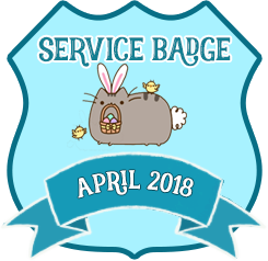 Service Badge: April 2018