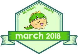 Party Badge: March 2018 Birthdays