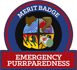 Merit Badge: Emergency Purrparedness