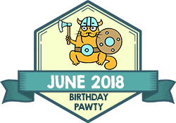 Party Badge: June 2018 Birthdays