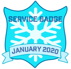 Service Badge: January 2020